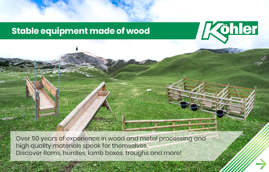 Stable equipment made of wood