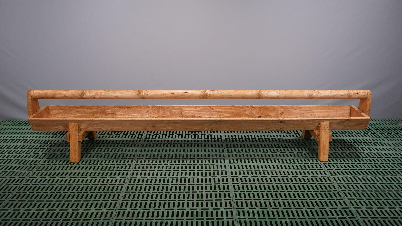 Holztrog mit Holm und Füßen Länge 3,00 m
