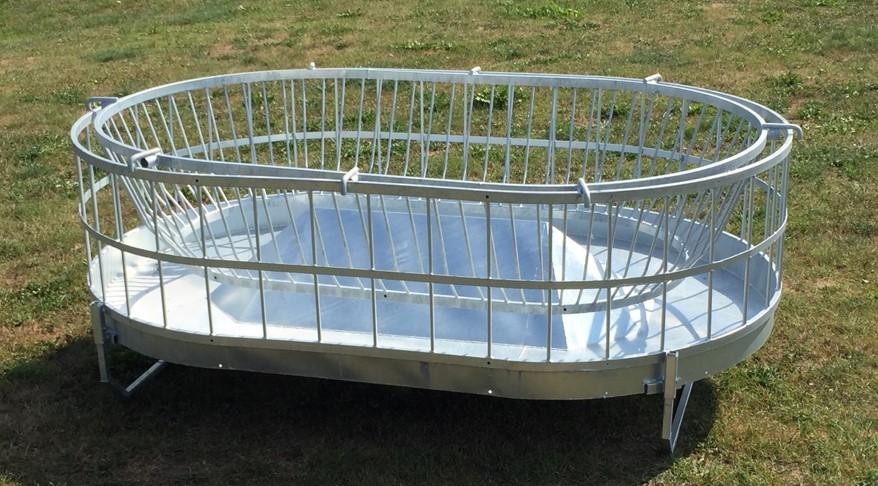 Rundballenraufe Oval mit Innenring und -kegel