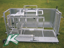 Catching and treatment stand