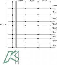 Horizont Netz Turbomax 105 cm hoch MIT STARREN SENKRECHTEN, Doppelspitze