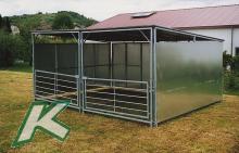Zerlegbare Weideschutzhütte