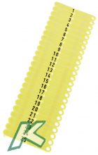 OhrmarkenTwintag Nr.001-200 gelb  (je 50 Stück)
