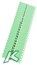 OhrmarkenTwintag Nr.001-200 grün (je 50 Stück)