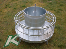 Hay Rack with inner ring and cone AND Concentrated Feed Machine