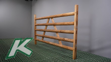 Wooden hurdle with 5 laths Length 2.00 mtr.