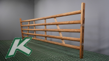 Wooden hurdle with 5 laths, length 4.00 mtr.