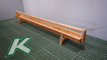 Wooden trough with holm and standing feet, length 4.00 mtr.