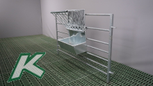 Feed Basket with Trough, Width 50cm