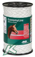 EconomyLine Rope cross-wound 4mm, 200m, white