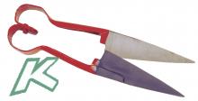 Handwollschere aus Federstahl, groß, Herzform, ca. 27 cm